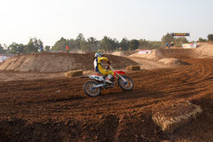 Phichit,Thailand,December 27,2015:Extreme Sport Motorcycle,The motocross competition,motocross rider and good driver Stock Photos