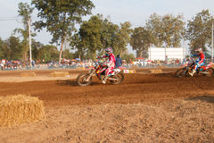 Phichit,Thailand,December 27,2015:Extreme Sport Motorcycle,The motocross competition,motocross rider and good driver Stock Images