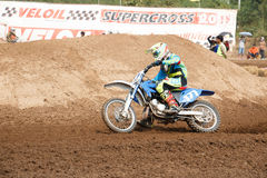 Phichit,Thailand,December 27,2015:Extreme Sport Motorcycle,The motocross competition,motocross rider and good driver Royalty Free Stock Images