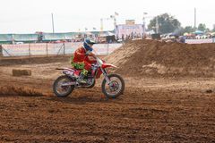 Phichit,Thailand,December 27,2015:Extreme Sport Motorcycle,The motocross competition,motocross rider and good driver Royalty Free Stock Photo