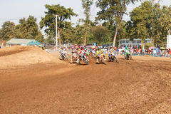 Phichit,Thailand,December 27,2015:Extreme Sport Motorcycle,The motocross competition,motocross rider and good driver Stock Photo