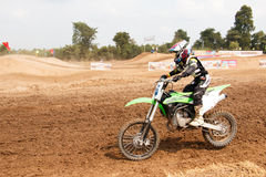 Phichit,Thailand,December 27,2015:Extreme Sport Motorcycle,The motocross competition,motocross rider and good drivers Stock Photos