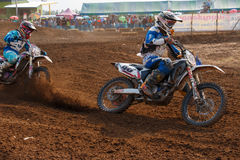 Phichit,Thailand,December 27,2015:Extreme Sport Motorcycle,The motocross competition,motocross rider and good drivers Royalty Free Stock Photo