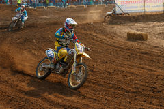 Phichit,Thailand,December 27,2015:Extreme Sport Motorcycle,The motocross competition,motocross rider and good drivers Royalty Free Stock Photography