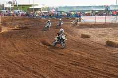 Phichit,Thailand,December 27,2015:Extreme Sport Motorcycle,The motocross competition,motocross rider and good drivers Stock Images