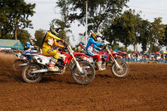Phichit,Thailand,December 27,2015:Extreme Sport Motorcycle,The motocross competition,motocross rider start. Stock Photo