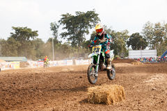 Phichit,Thailand,December 27,2015:Extreme Sport Motorcycle,The motocross competition,motocross rider and young drivers Stock Photos