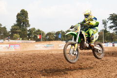 Phichit,Thailand,December 27,2015:Extreme Sport Motorcycle,The motocross competition,motocross rider and young drivers Royalty Free Stock Photos