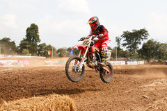 Phichit,Thailand,December 27,2015:Extreme Sport Motorcycle,The motocross competition,motocross rider and young drivers Stock Images