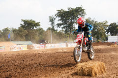 Phichit,Thailand,December 27,2015:Extreme Sport Motorcycle,The motocross competition,motocross rider and young drivers Royalty Free Stock Photo