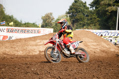Phichit, Thailand, Dezember 27,2015: Extremes Sport-Motorrad, der Motocrosswettbewerb, der in Verlegenheit bringende Motocrossrei Lizenzfreies Stockfoto