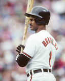 Phil Bradley. Baltimore Orioles OF Phil Bradley. (Image taken from color slide Stock Image
