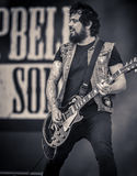 Phil Campbell & The Bastard Sons live in concert 2017. Phil Campbell & The Bastard Sons, featuring Campbell alongside his three sons Todd guitar, Dane drums Royalty Free Stock Image