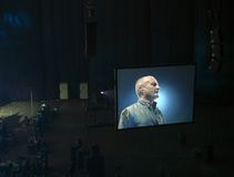Phil Collins in Moscow. Last performances Phil Collins in Moscow Royalty Free Stock Photo