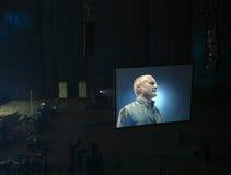 Phil Collins in Moskau Lizenzfreies Stockfoto