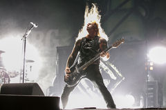 Phil Demmel. Is the lead guitarist for American heavy metal band Machine Head. He was also a founding member of Vio-Lence, which also included Machine Head Stock Image