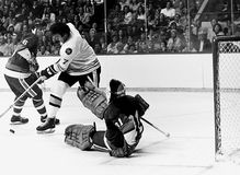 Phil Esposito v. Billy Smith Royalty Free Stock Photo