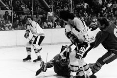 Phil Esposito y Derek Sanderson Boston Bruins Imagen de archivo