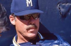 Phil Garner, Milwaukee Brewers foto de stock royalty free