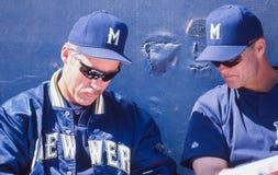Phil Garner, Milwaukee Brewers foto de stock