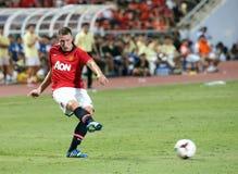 Phil Jones van de Mens Utd. Stock Foto