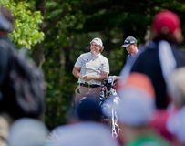 Phil Mickelson aprecia a multidão. foto de stock