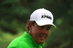Phil Mickelson. Prepares to hit the ball at the country club golf course on the PGA Tour Royalty Free Stock Photo