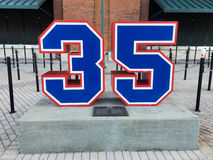 Phil Neikro. 's retired number on display at Turner Field in downtown Atlanta, GA Royalty Free Stock Photo