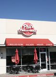 Phil` s Philly Grill Storefront royalty-vrije stock foto