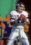 Phil Simms Quarterback pour les New York Giants Images libres de droits