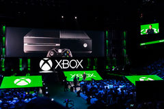 Phil Spencer Xbox-teamlood bij e3 media het informeren stock foto
