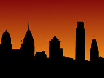 Philadelphfia no por do sol Fotografia de Stock