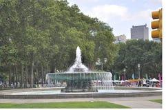 Philadelphfia, o 4 de agosto: Ericsson Fountain no Oval de Eakins de Philadelphfia em Pensilvânia Foto de Stock Royalty Free