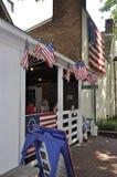 Philadelphfia, PA, o 3 de julho: Betsy Ross House Courtyard de Philadelphfia em Pensilvânia EUA Fotografia de Stock Royalty Free