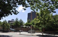 Philadelphfia, PA, o 3 de julho: Opinião do centro da cidade de Philadelphfia em Pensilvânia EUA Foto de Stock Royalty Free
