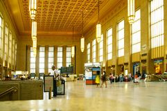 PHILADELPHFIA, PA/USA -08-21-2009: 30a estação da rua, o t principal Imagens de Stock