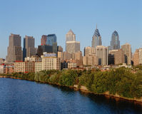 Philadelphfia, skyline do PA fotografia de stock royalty free