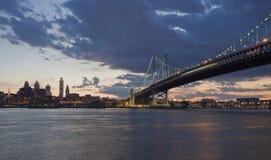 Philadelphia alla notte Fotografia Stock