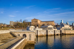 Philadelphia Art Museum and Fairmount Water Works Royalty Free Stock Photos