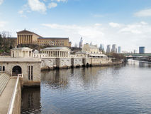 Philadelphia Art Museum och vattenförsörjningssystem Arkivfoton