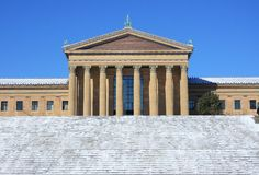 Philadelphia Art Museum after snow fall Royalty Free Stock Image