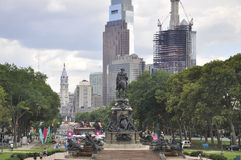 Philadelphia,August 4th:Benjamin Franklin Parkway from Philadelphia in Pennsylvania Royalty Free Stock Photography