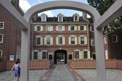 Philadelphia Augusti 4th: Benjamin Franklin House läge från Philadelphia i Pennsylvania Royaltyfri Bild