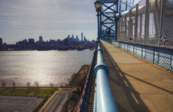 Philadelphia from the Ben Franklin Bridge Stock Images
