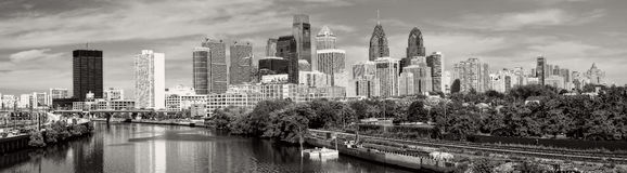 Philadelphia in black and white Royalty Free Stock Photo