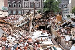 Philadelphia building collapse Royalty Free Stock Photography
