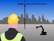Philadelphia building site Royalty Free Stock Photography