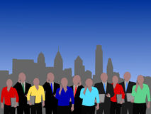 Philadelphia business people Stock Photo