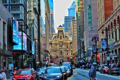 Philadelphia is busy right now royalty free stock image