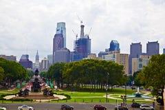 Philadelphia céntrica en Pennsylvania los E.E.U.U. Foto de archivo libre de regalías